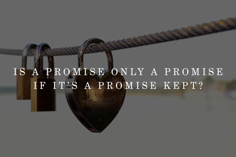 Promise kept 2017