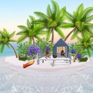 home on an island