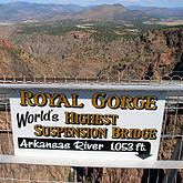 sign for Royal Gorge