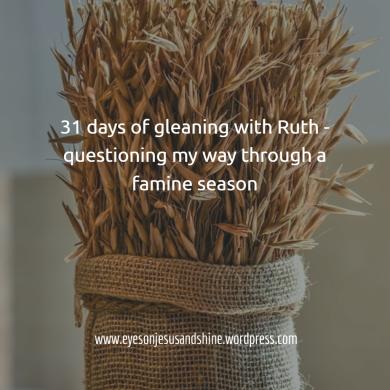 31 days gleaning bushel of wheat