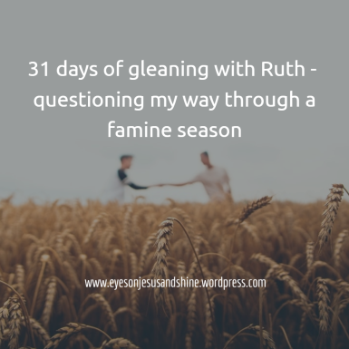 31 days of gleaning