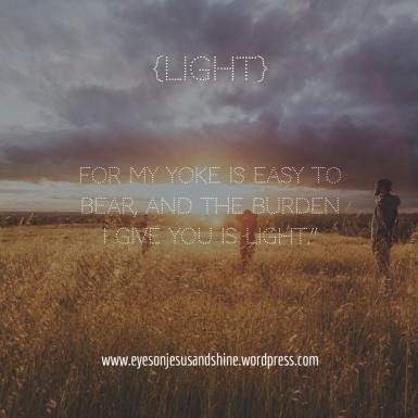 burden is light