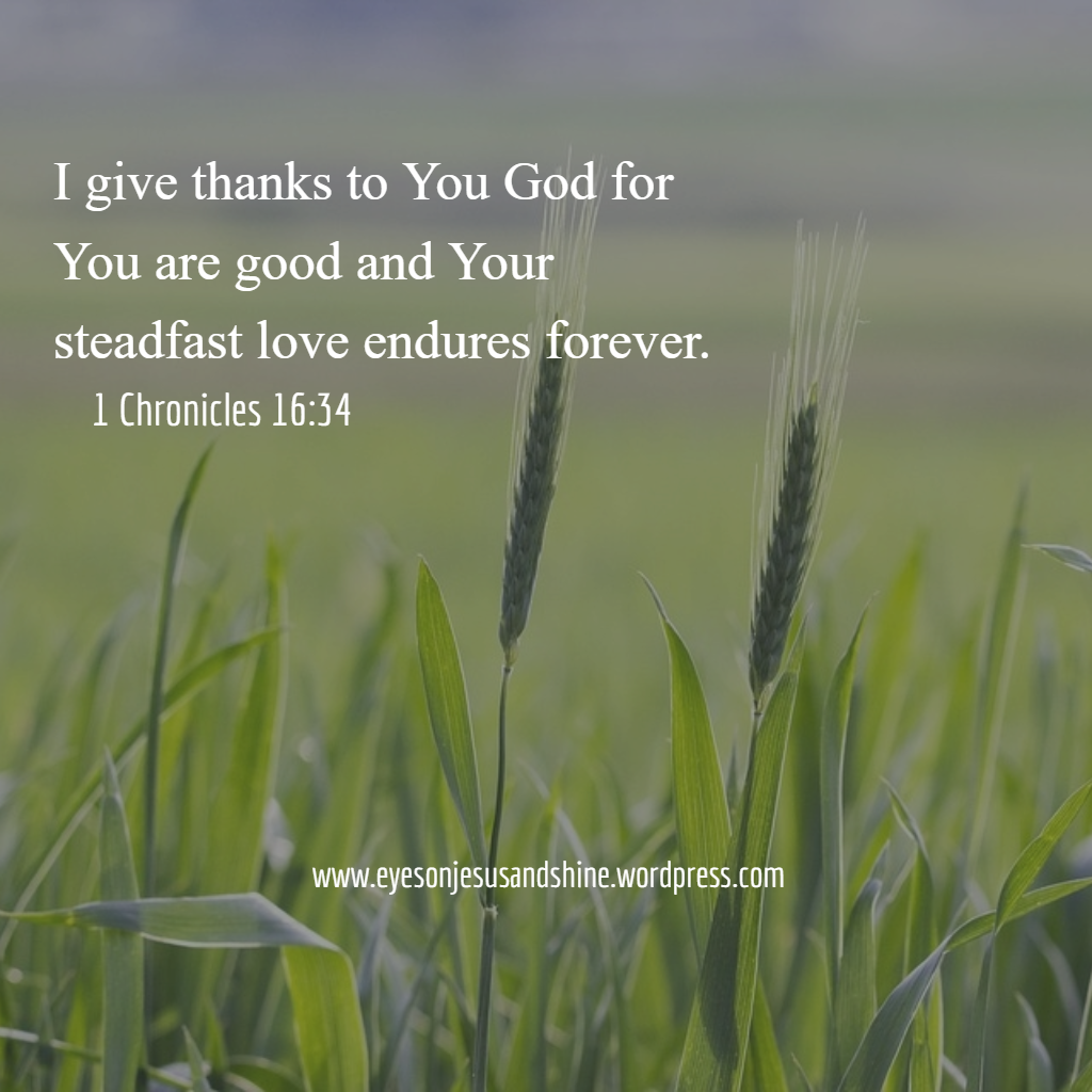give thanks to You God
