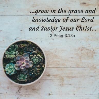 grace 2 Peter 3.18 MG