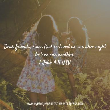 1 John 4.11 girls
