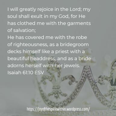 SS Anna Isaiah 61.10